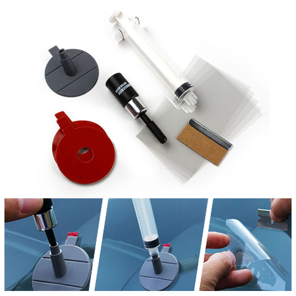 Car Glass Repair Tools Automobile Windscreen Windshield Repair Sets For Scratch Chip Crack Bullseye DIY Car-styling Accessories car glass maintenance sets auto window repair tool for chip crack windshield repairing kit automobiles care diy