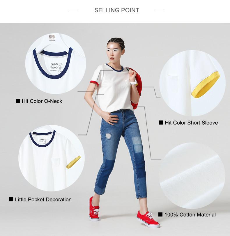 HTB1pb.BKpXXXXamXpXXq6xXFXXXQ - T Shirt Women Short Sleeve O-Neck Cotton