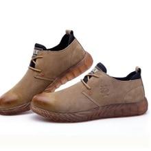 Модная мужская Рабочая защитная обувь со стальным носком, защитная обувь, пуленепробиваемая подошва, легкая изоляция, сварочная машина
