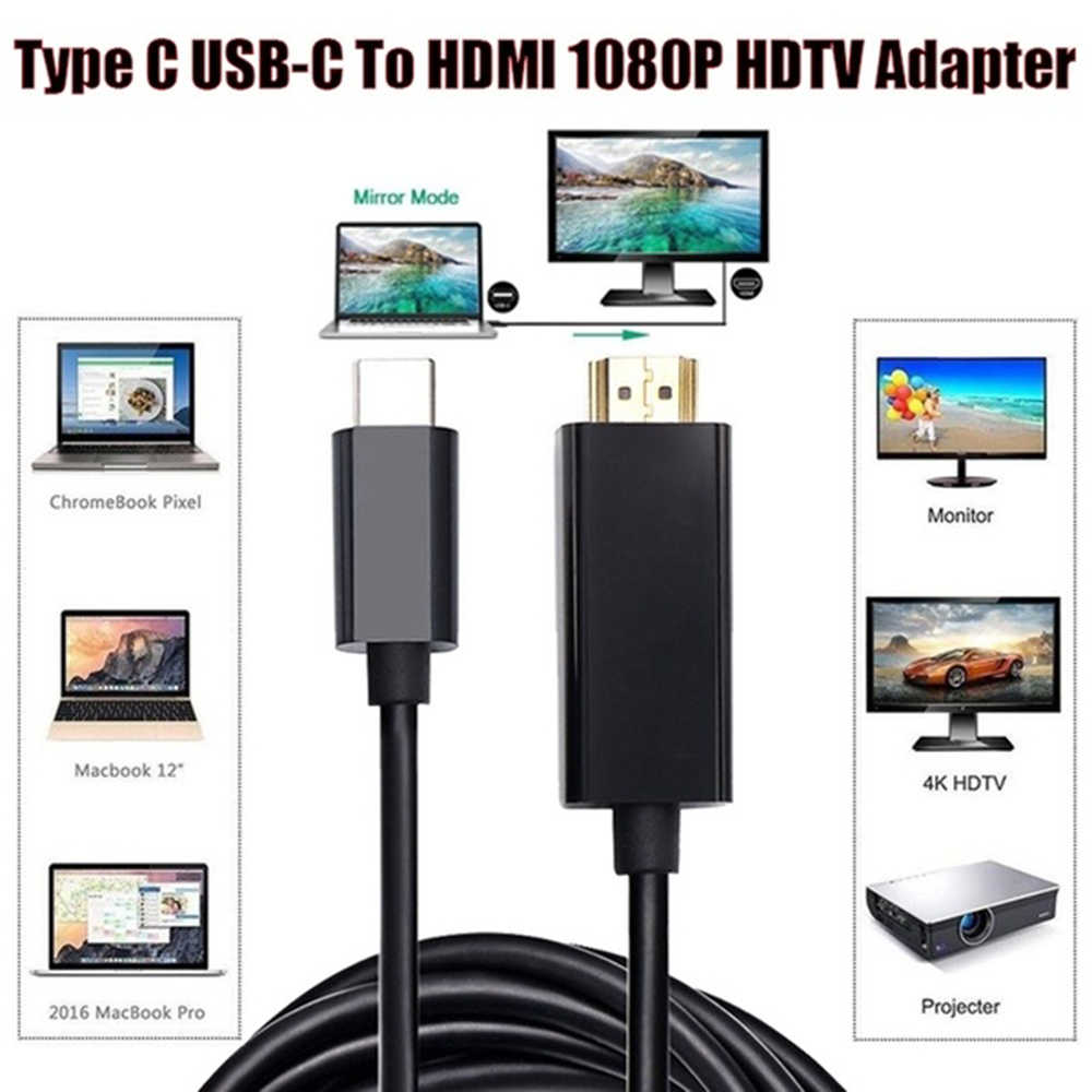 Type C To HDMI Mirroring Adapter 4K Lightning Cable Adaptor