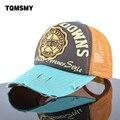 Unisex sombreros de sun para los hombres bordado hip hop hueso estrella de cinco puntas de los hombres gorras de béisbol de las mujeres respirables malla snapback cap
