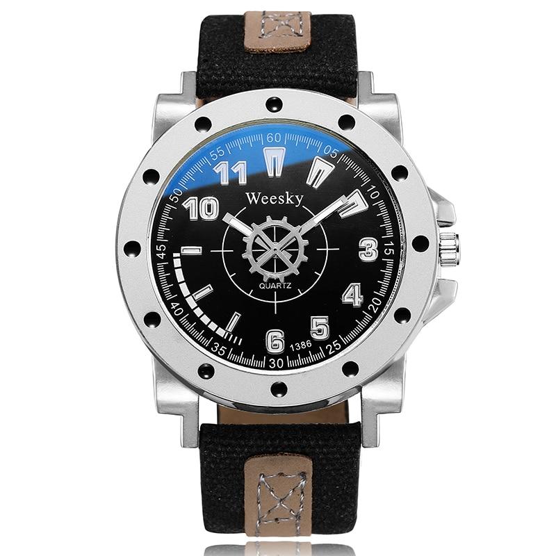 Men Watch Steampunk Business Big Dial Analog Military Watch Fashion Cool Nylon Braid Luminous Men Watch Relojes Hombre 2018