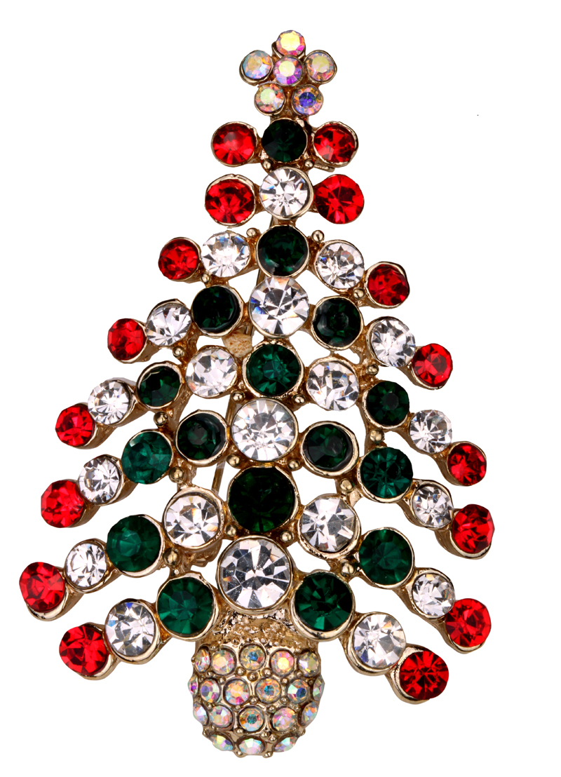 Christmas tree brooch pin holiday gifts for women girls ...