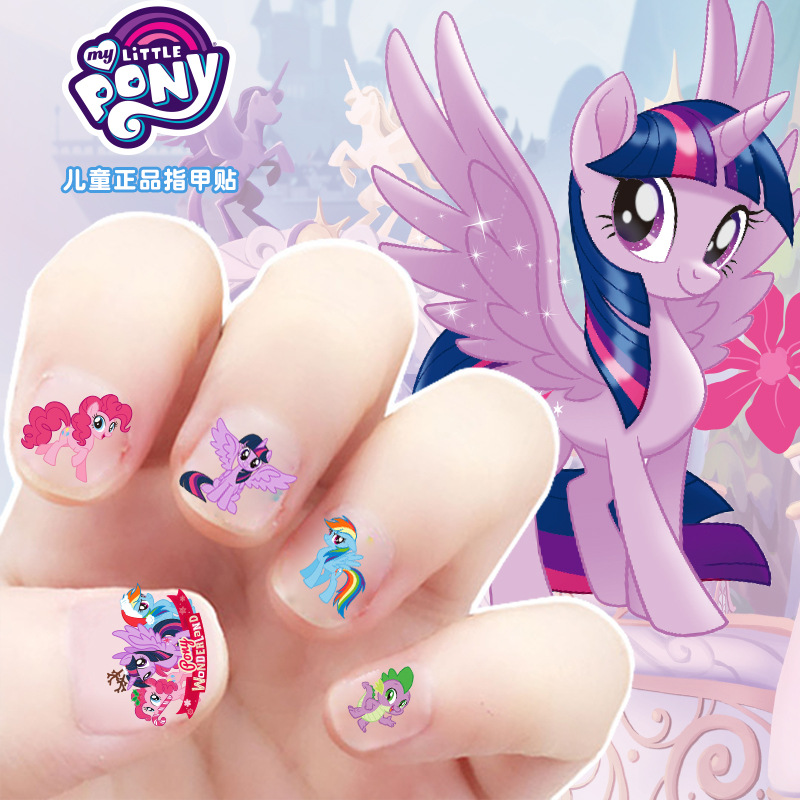 5pcs My Little Pony Stickers Toys PVC Pony Sticker Pack Girl Nail Stickers 3D Rainbow Dash Twilight Sparkle Toys For Girls M12