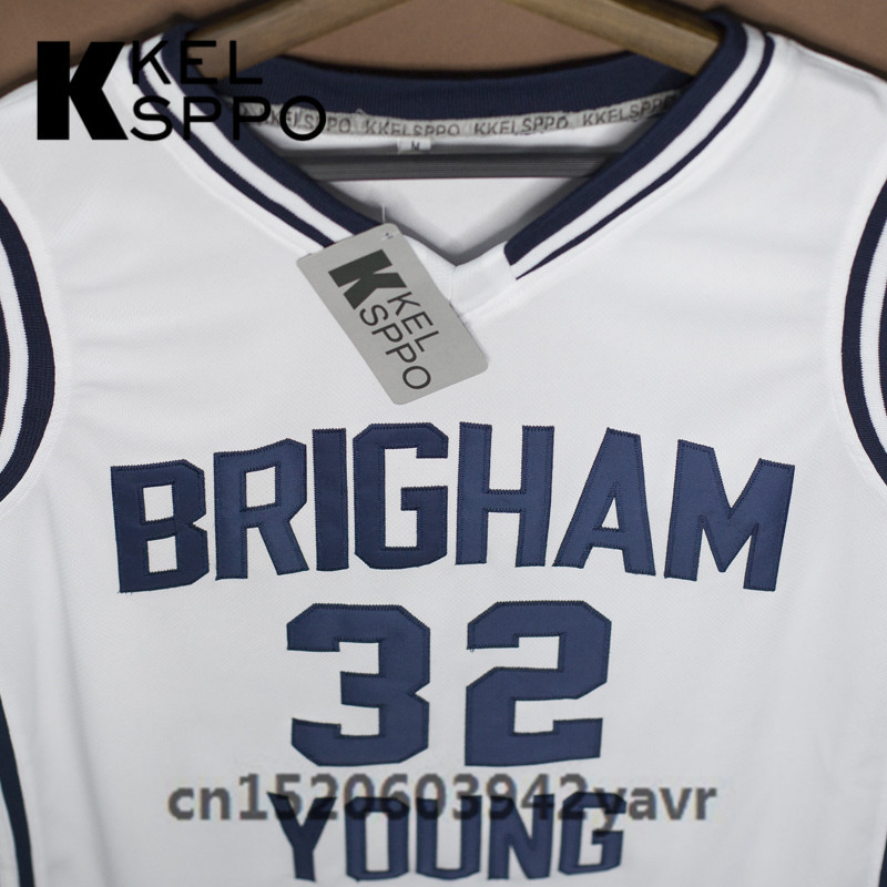 6819932bc Custom Adult Throwback Basketball Jerseys  32 Jimmer Fredette Brigham Young  Embroidered Basketball Jersey Size XXS 6XL-in Basketball Jerseys from  Sports ...