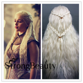 Cosplay Wigs For Girl Long Curly Braid Blonde Wigs  Daenerys Targaryen Cosplay  Game of Thrones Fiber Synthetic Hair Wigs