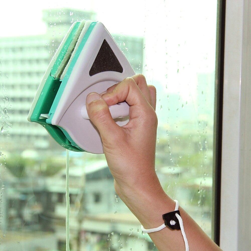 Nouveau Utiles Magnétique Fenêtre Cleaner Double Side de Verre Glace Surface Utile Brosse Essuyer Verre De Soufflage Magnétique Verre Frotter Brosse Chaude