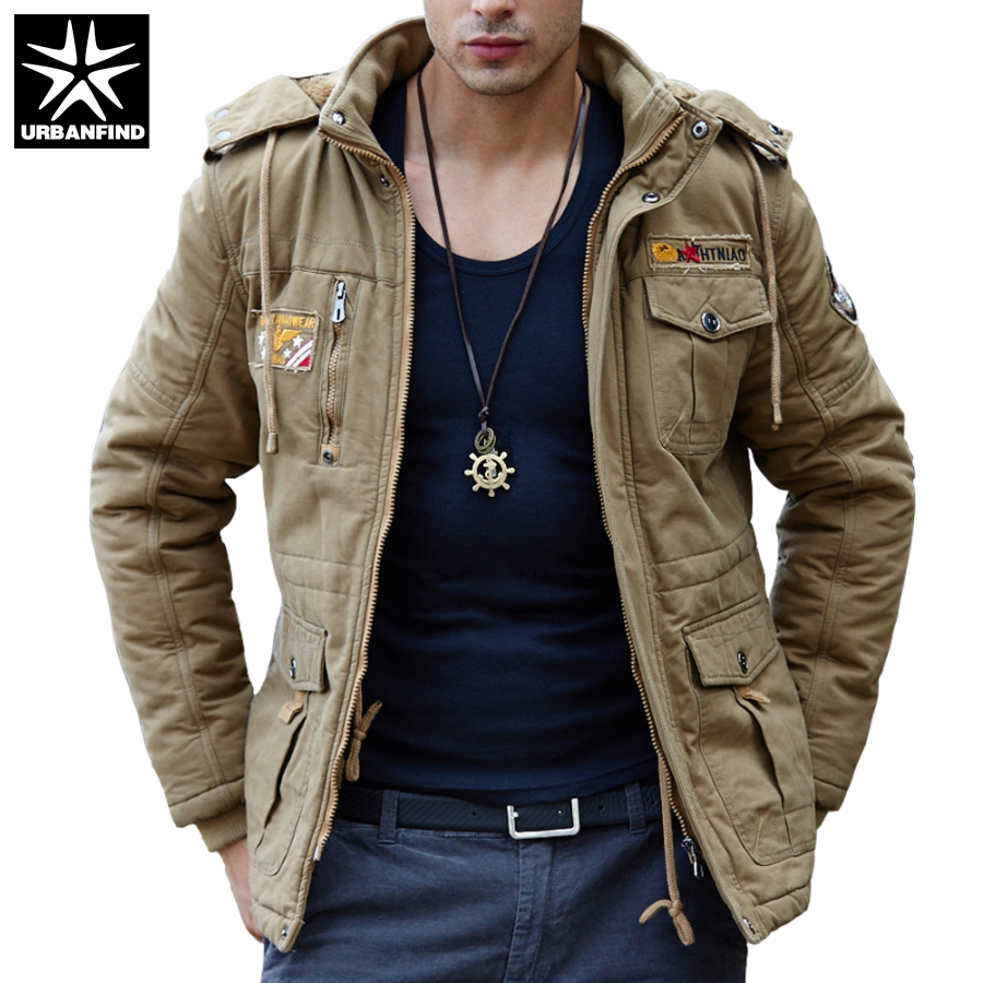 URBANFIND Solid Color Men Casual Jacket Large Size M-4XL Hooded Style Man Thin Coats Men Windbreaker Spring Autumn Style