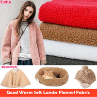 Good 160x50cm 1pcs Plush Flannel Fabric Warm Soft Coat Fabric Imitation Lams Flannel Fabric Sewing Material