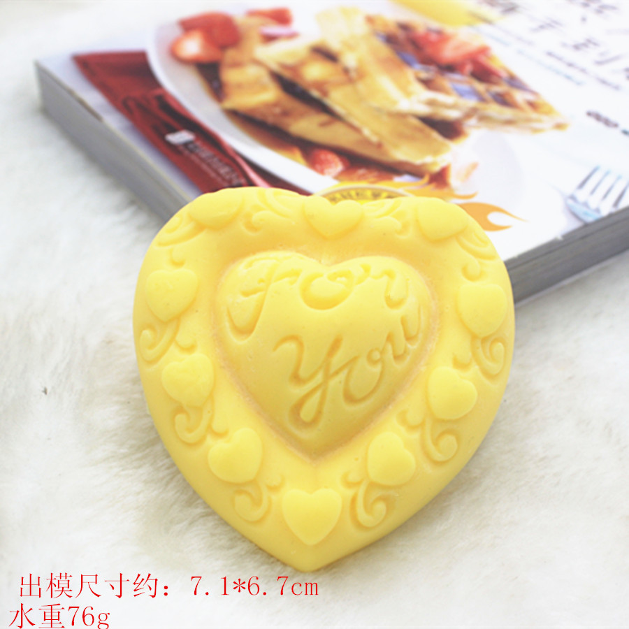 Handmade Soap Making Heart Silicone Mold for baking Cake DIY Craft Toy Creative Gift Mould