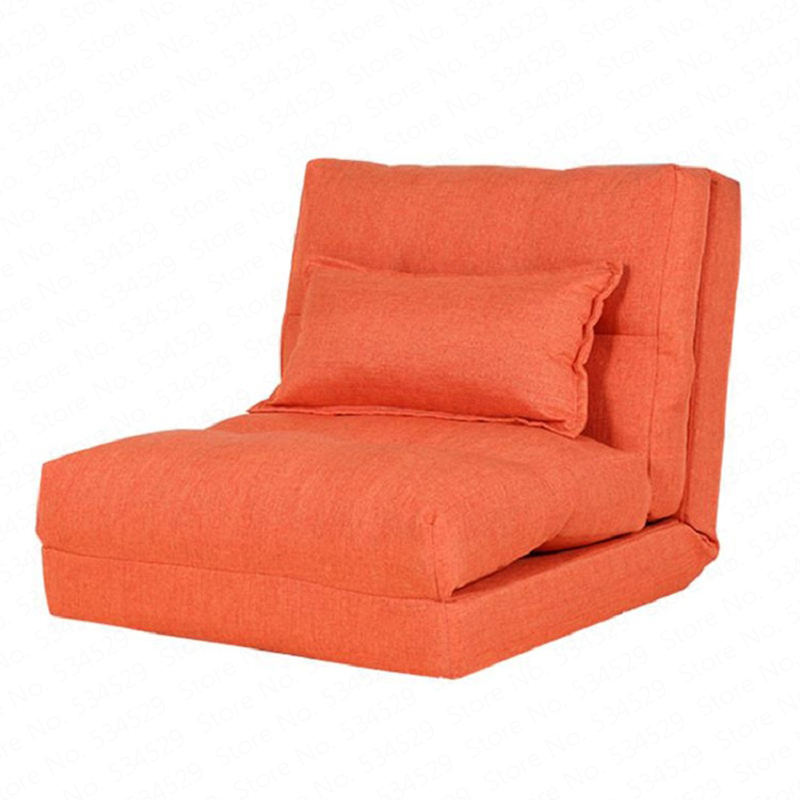 B Creative folding lazy sofa living room fabric sofa bed simple dormitory single small sofa small apartment floor sofa