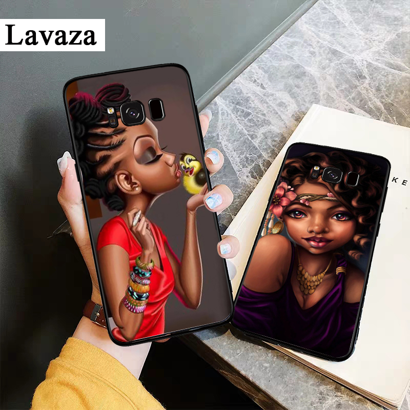 Lavaza Afro Girls Melanin Quwen Silicone Case for Samsung S6 Edge S7 S8 Plus S9 S10 S10e Note 8 9 10 M10 M20 M30 M40 in Fitted Cases from Cellphones Telecommunications