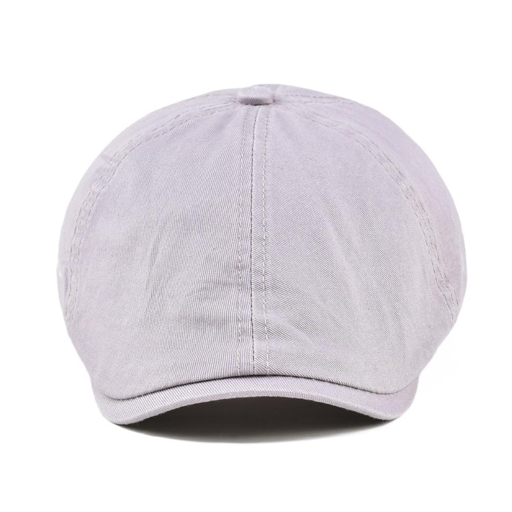 Summer Cotton Ivy Flat Cap Men Women Solid Casual Driver Cabbie Elastic  Adjustable Boina Berets 062 56958b494b98