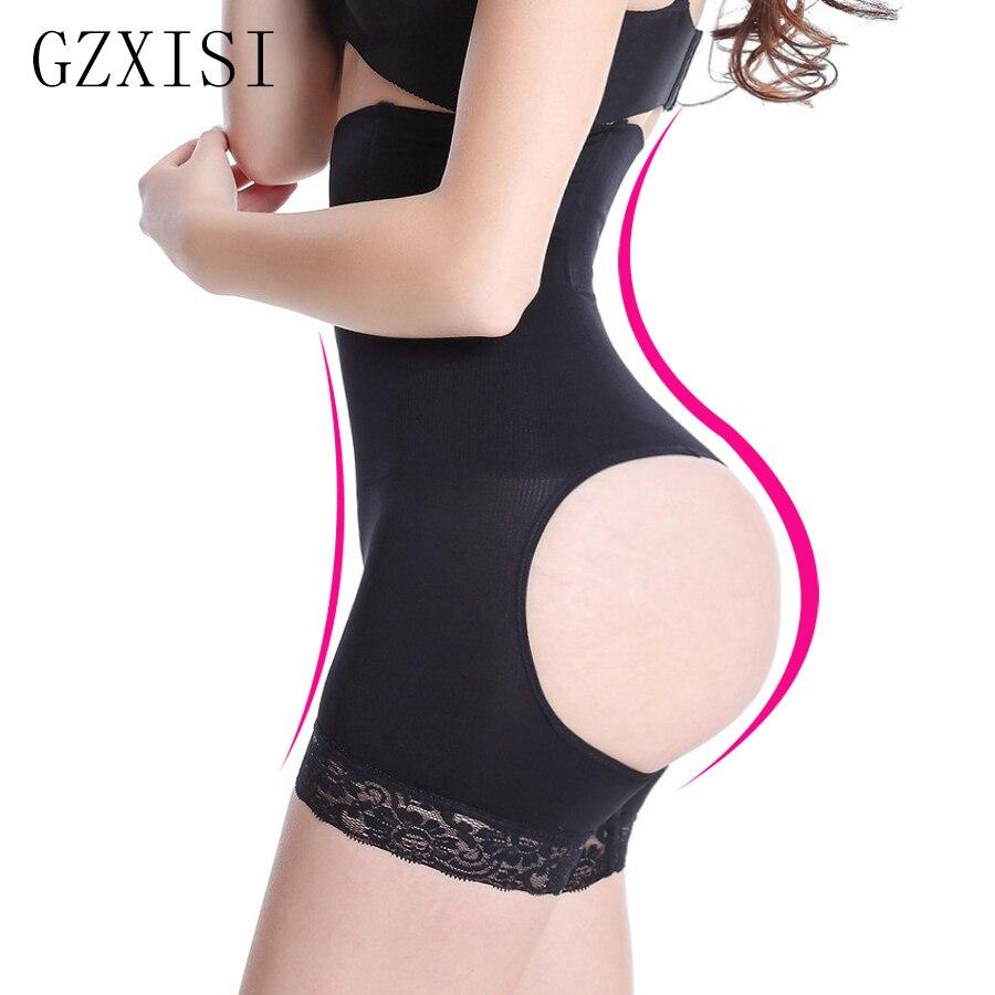 2015 Hot Selling Sexy Women Body Shaper Butt Lift Shapers Butt Lifter With Tummy Control Butt Lifter,Plus Size XXL Panties Black