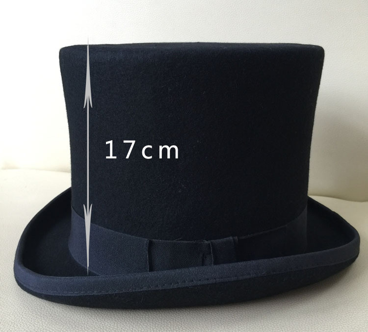 01907-nao-17cm high top wool formal  gentleman fedoras  hat  cap men President hat