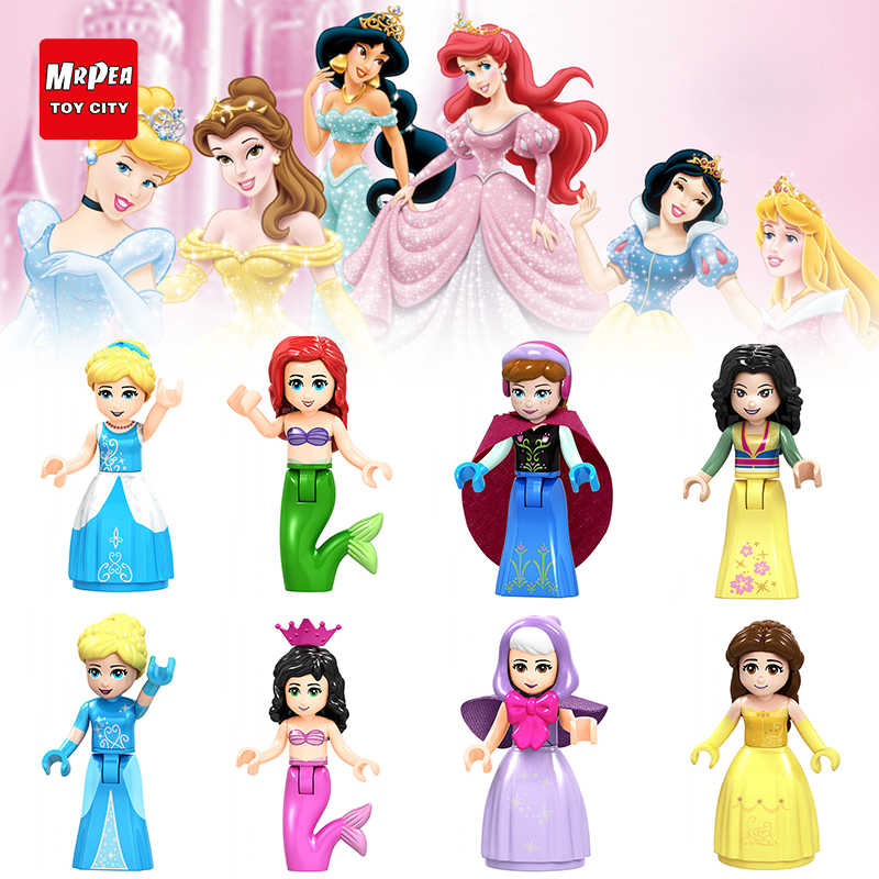 8afc7821029 Compatible With Legoings Cinderella Elsa Belle Alana Fairy Godmother Blocks  Bricks Model Toys Girls Gift Christmas
