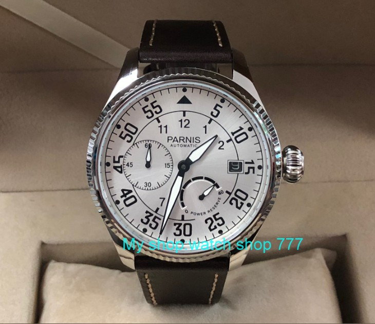 45mm PARNIS Automatic Self Wind mechanical movement men watches power reserve Mechanical watches Business watches pa70 p8|Mechanical Watches| |  - title=