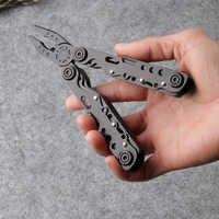 Pince de combinaison multifonctionnelle de haute qualité pliante multi-pinces outil de camping avec scie à couteau de survie en plein air