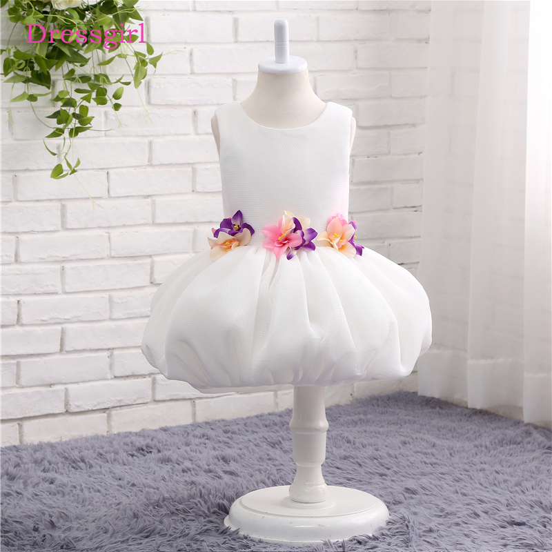 White 2018 Flower Girl Dresses For Weddings Ball Gown Tulle First ...