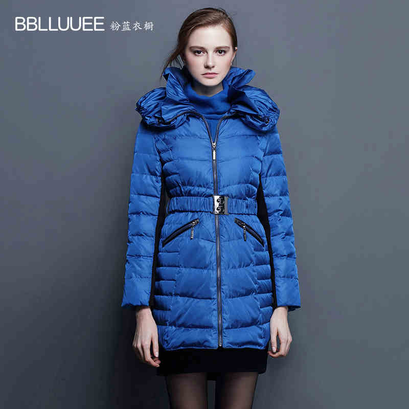 2016 new hot winter Thick Warm woman Down jacket Coat Parkas Outerwear fashion Mid long Slim plus size 2XXL Luxury Brands Simple 2017 new winter jacket women long slim warm female fashion cotton coat outerwear thick warm winter parkas plus size l 3xl 4l60