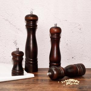 Image 3 - Moulin à sel en bois de moulins à poivre de Fissman avec le broyeur réglable fort en métal outils de cuisine