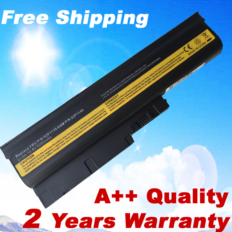 6 cells Replacement Laptop Battery For IBM ThinkPad R60 R60e T60 T60p for Lenovo ThinkPad R500 T500 W500 laptop bateria akku 5200 мач аккумулятор для ibm lenovo thinkpad r60 r60e r500 t500 w500 sl400 sl500 sl300 sl510