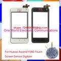 """Preto Branco 4.0 """"smartphone para huawei ascend y360 y3 tela de toque do painel de toque digitador sensor de vidro da frente da lente do código de rastreamento"""