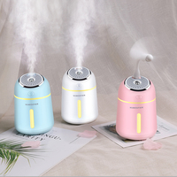 Mini Essential Oil Diffuser with USB Fan LED Lamp 330ML Ultrasonic Air Humidifier for Home Office Car 3 In 1 Aroma Diffuser Beauty Tools