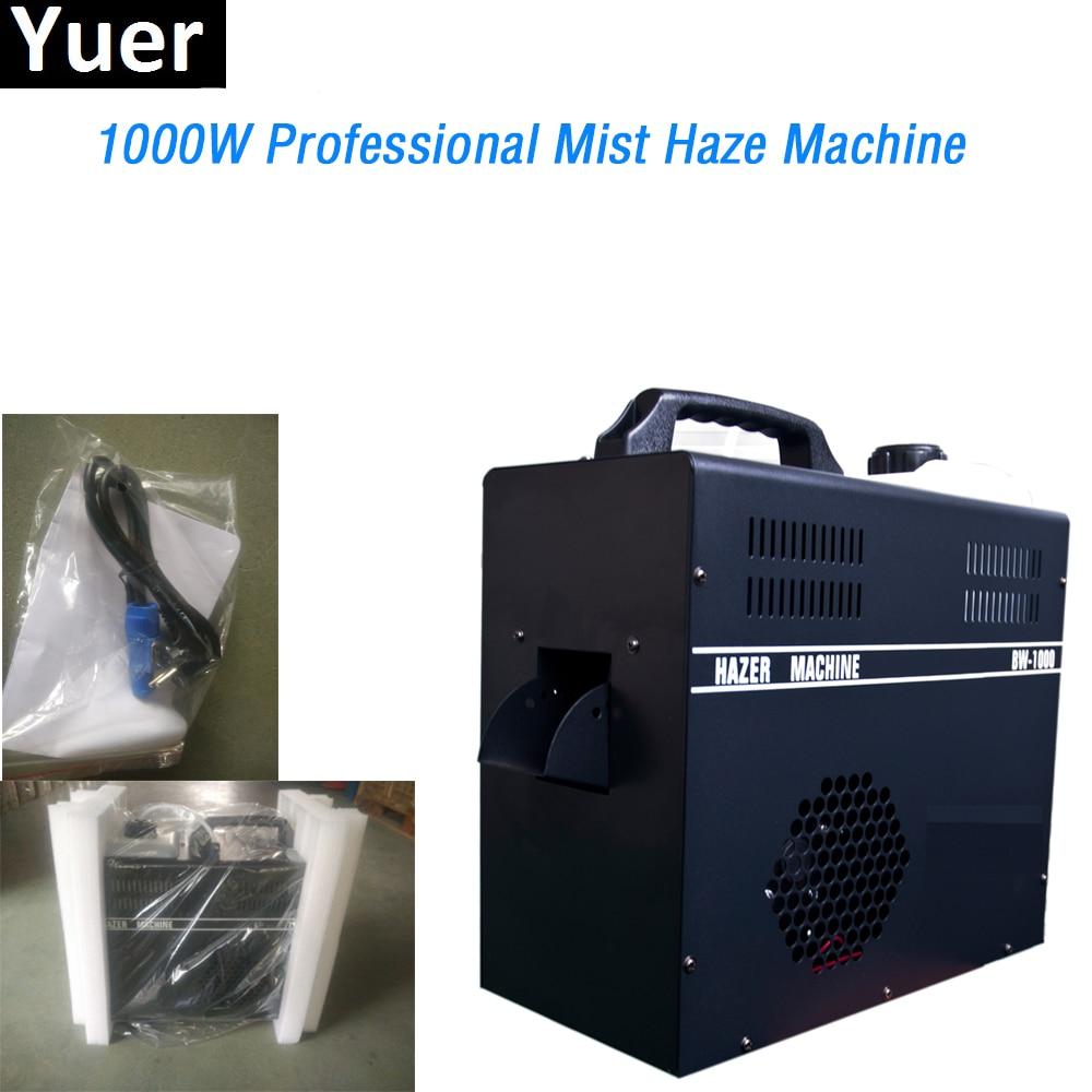 Yuer 1000W Professional Mist Haze Machine Use Haze Oil Special Smoke Hazer Fog Machines DMX512 For DJ Disco Stage Equipment жидкость для генераторов эффектов синтез аудио disco fog haze oil 1
