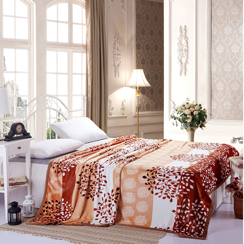 On sale 200x230cm winter High Density Super Soft Flannel Blanket Package edge technology Thick blanket throw on Sofa Bed
