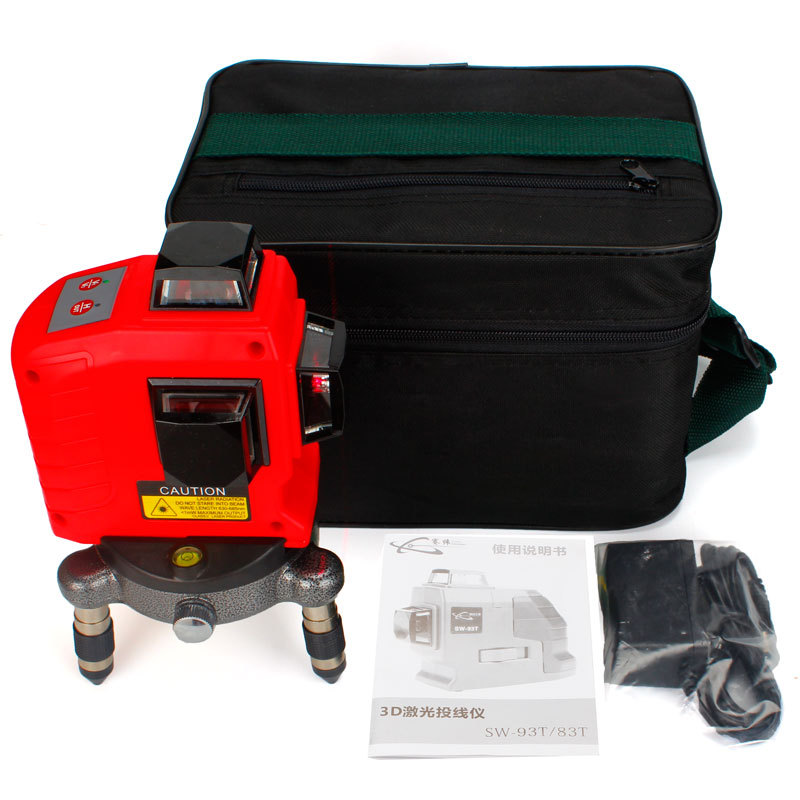 2018 New 12Lines 3D Laser Level Self-Leveling 360 Horizontal And Vertical Cross Super Powerful Red Laser Beam Line цена