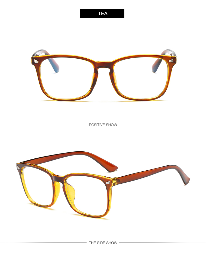 tea color Non-Prescription Blue Light Blocking Glasses