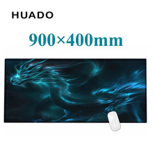 Blue dragon rubber larger mouse pad gaming mouse mat Laptop Keyboard mat XL 900*400 mm for CS Dota 2 League of  Legend