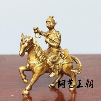 China old Bronze statue Ma He Hou copper  statue ware of Fengshui