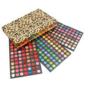Newest Leopard Packed Cosmetic Eyeshadow Lip Gloss Makeup Set Professional 252 Color Eyeshadow Make Up Palette Kit