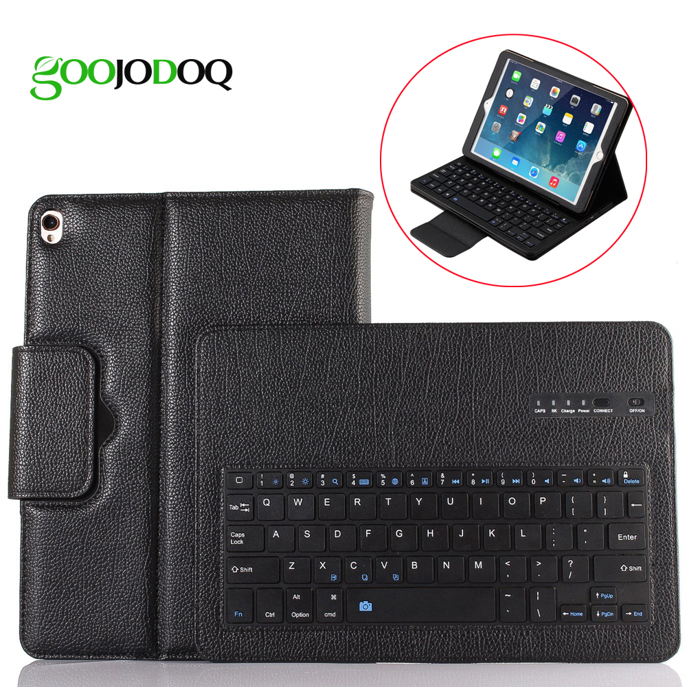 Keyboard Case For iPad 2017 9.7 2018 / Air / Air 2 Case PU Leather Magnetic Cover for iPad 2018 9.7 Case with Bluetooth Keyboard for ipad pro 12 9 keyboard case magnetic detachable wireless bluetooth keyboard cover folio pu leather case for ipad 12 9 cover