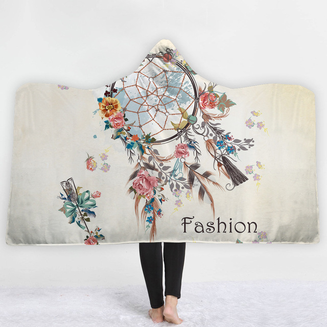 Dreamcatcher Feathers Hooded Blanket 4