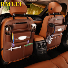 2020 New Car Seat back Storage Organizer Bag Universal PU Leather Multifunction Storage Box Stowing Tidying Pocket Auto Styling