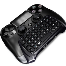 Mutilfunction Black Mini Bluetooth Wireless Keyboard Joystick Chatpad for Sony Playstation 4 PS4 Gamepad Controller