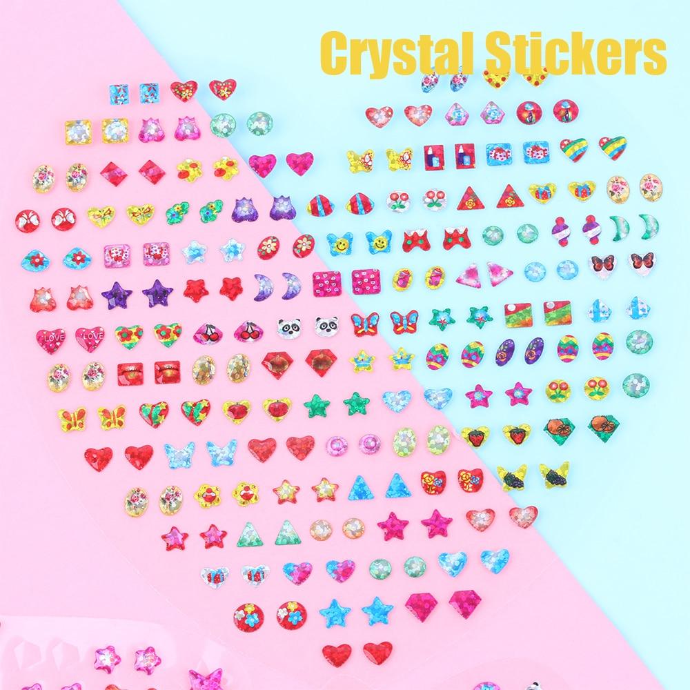 1Sheet Cartoon Reward Crystal Stickers Toy Wonderful Children Stickers Earring Diamond Car Decoration DIY Phone Body Bag Sticker