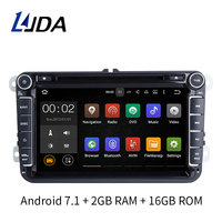 Two Din 8 Inch Andorid 7 1 Car DVD Player For Volkswagen VW Passat B6 Polo