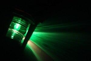 Image 5 - 12V Marine Boat Bulb Side Light 25W Navigation Sailing Signal Lamp Green Starboard Light