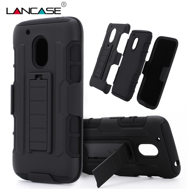 purchase cheap 7be13 86060 US $6.75 |For Motorola Moto G4 Play Case 3 in 1 Defender Armor Belt Clip  Hard Holster Case For Moto G4 Play Silicone Stand Shockproof Case on ...