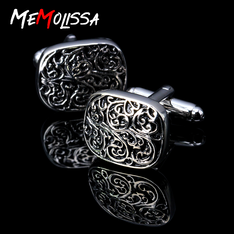 Promotion!!! New high quality Vintage Wave Pattern Cuff Link Retro Exquisite Men's cufflinks round Sleeve Nail hot style Jewelry