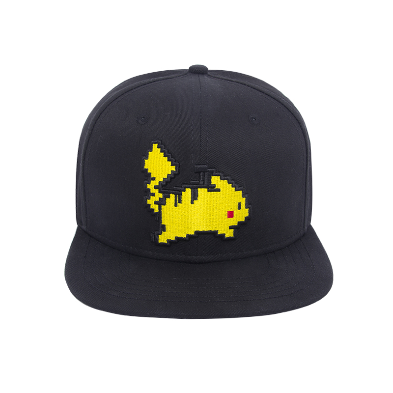 Pikachu Baseball Cap Pokemon Go Game Cosplay Anime Pocket Monsters Hip Hop Hat climate 2017 pocket monster go game pikachu flat snapback caps adult men women animation cartoon cute comic orange eevee hat cap