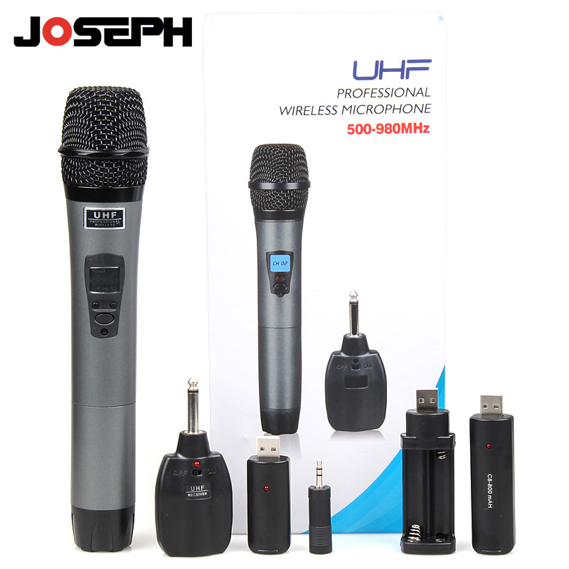 free shipping professional uhf rechargeable li ion battery handheld wireless microphone system. Black Bedroom Furniture Sets. Home Design Ideas