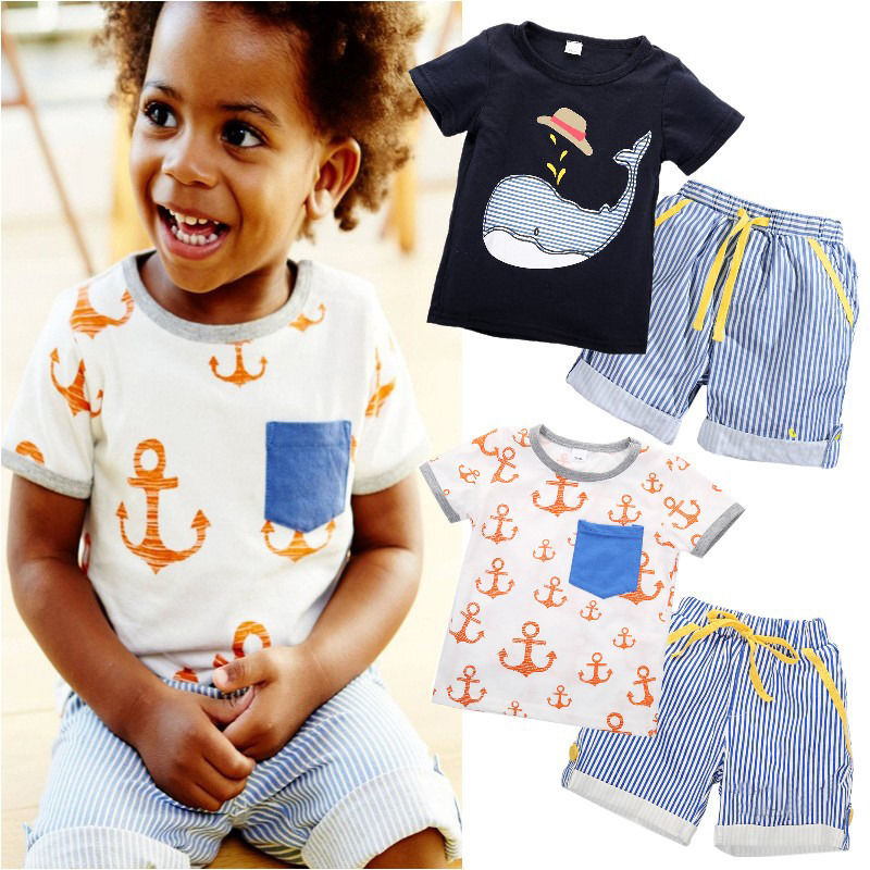 Llegada Infant Baby Summer Toddler Kids Boy Camisetas de manga corta - Ropa de ninos - foto 6