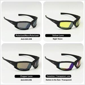 Image 3 - Übergang Photochrome Polarisierte Daisy X7 Military Brille Armee Sonnenbrille 4 Objektiv Kit Krieg Spiel Taktischen männer Gläser Sport