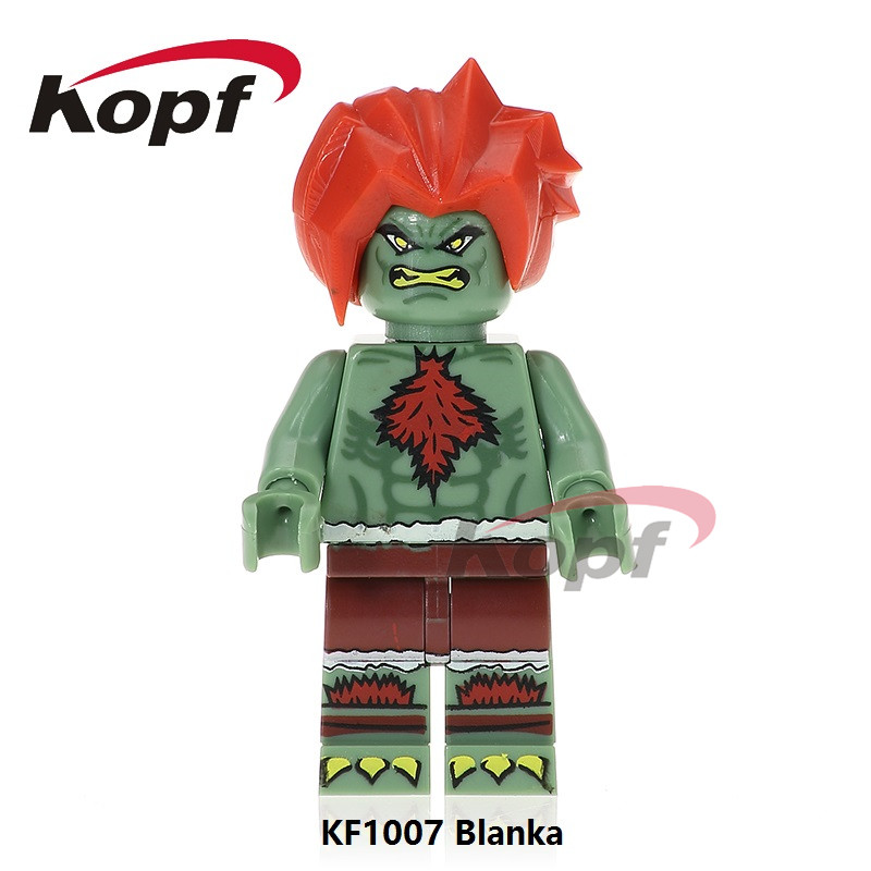 Single Sale Super Heroes Street Fighter Blanka Zangief Ryu Michael Myers Candyman Building Blocks Best Children Gift Toys KF1007
