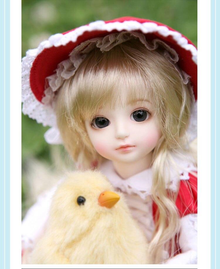 1//6 BJD Doll Girl Baby free eyes+face make up resin Gaby